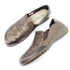 Naot Loafers Comfort Shoes Brown Metallic